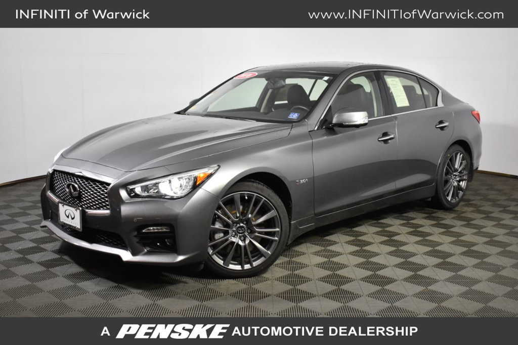 Certified Pre-Owned 2016 INFINITI Q50 4dr Sedan 3.0t Red Sport 400 AWD