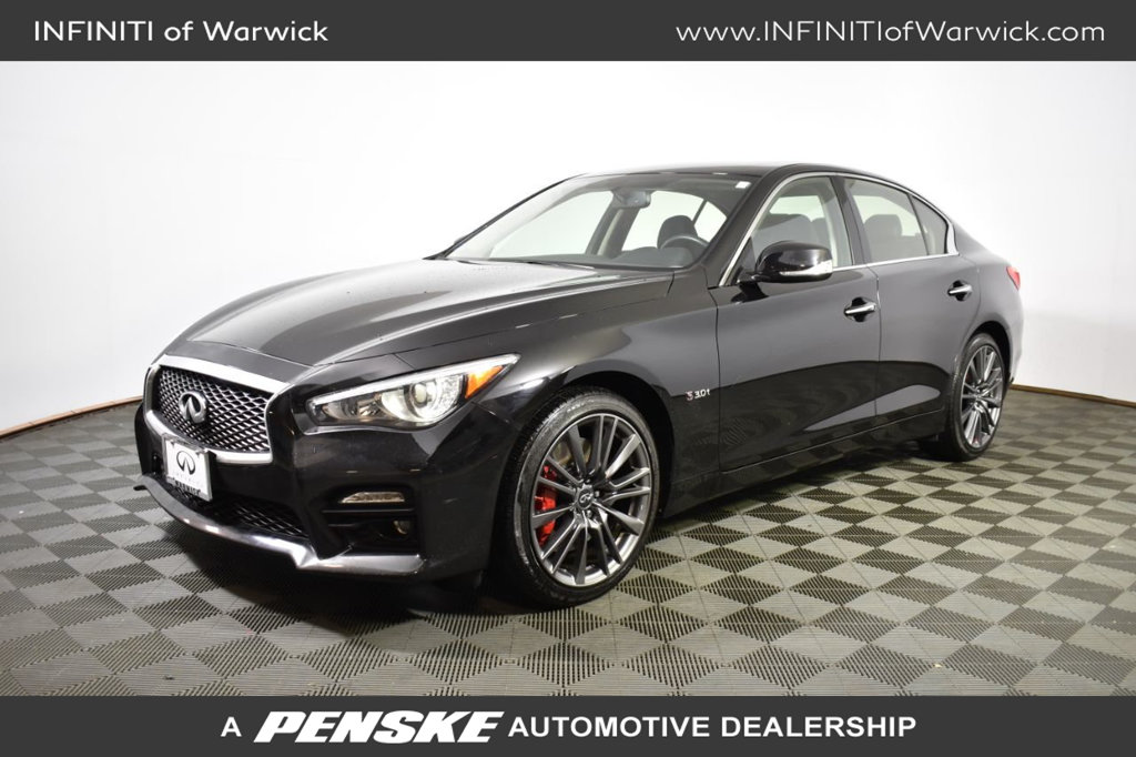 Certified Pre-Owned 2017 INFINITI Q50 Red Sport 400 AWD
